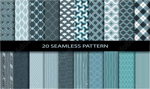 Poster Kunstmatig 20 Seamless Patterns