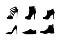 Women Shoes Vector Set