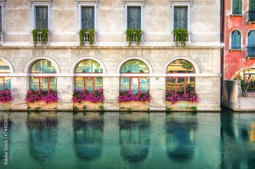 Kolorowa Fasada Budynku Treviso Wlochy Kaufen Sie Dieses Foto Und