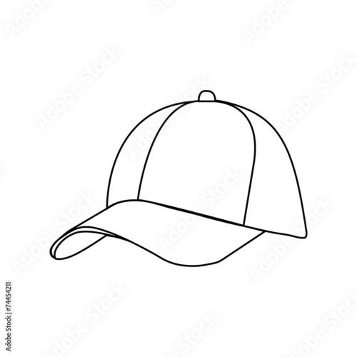 Fotografia  Baseball Cap in Flat Style