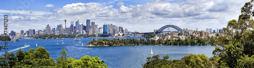 Foto op Canvas Australië Sy CBD from Taronga 04 Panorama
