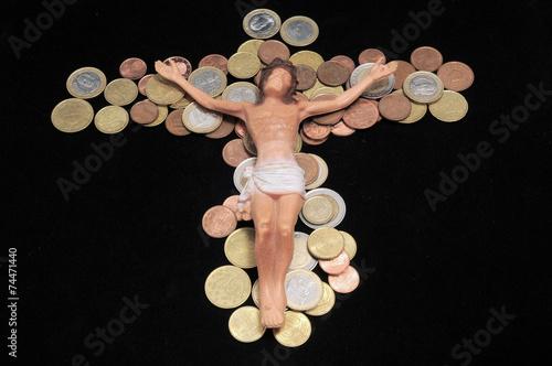 Slika na platnu Christ and Money