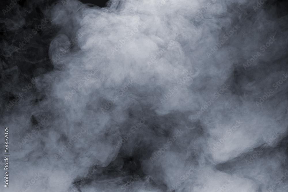 Fototapeta Smoke isolated on black background
