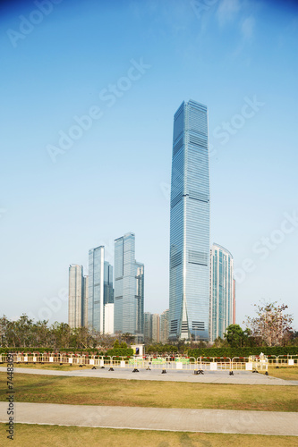 Sky100 skyscraper exterior Billede på lærred