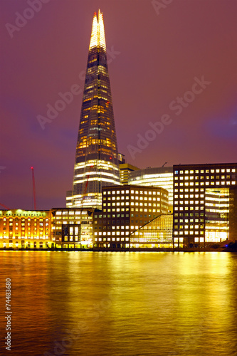 London shard at night in the UK - 74483680