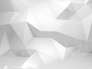 Streszczenie białe tło 3d z wielokąta wzorem