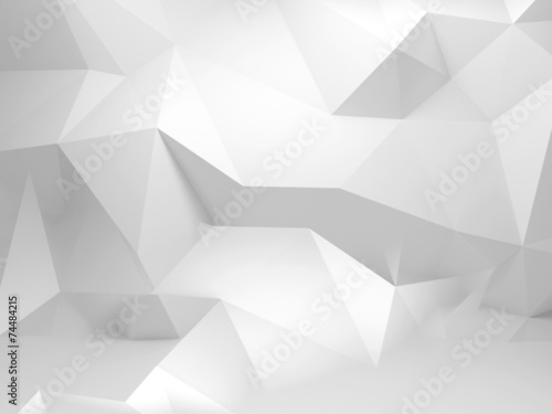 Fototapeta Abstract white 3d background with polygonal pattern obraz
