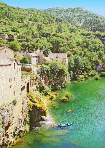 Fotografie, Obraz Cascade à Saint-Chély-du-Tarn