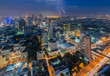Bangkok cityscape with lightning