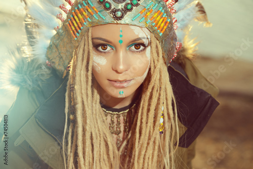 fototapeta na lodówkę Moda etniczna