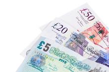 Closeup Of English Pounds Bank...