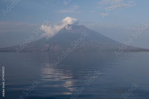 Deurstickers Vulkaan Active Volcano