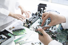 Women Who Have A Computer Parts