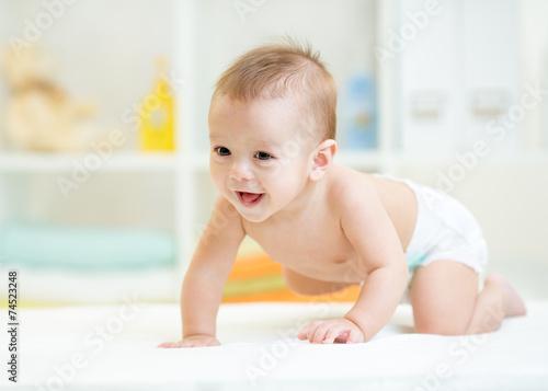 crawling baby Canvas Print