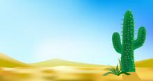 Desert Landscabe Vector Backgr...