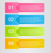 odern infographics colorful web design template with shadow