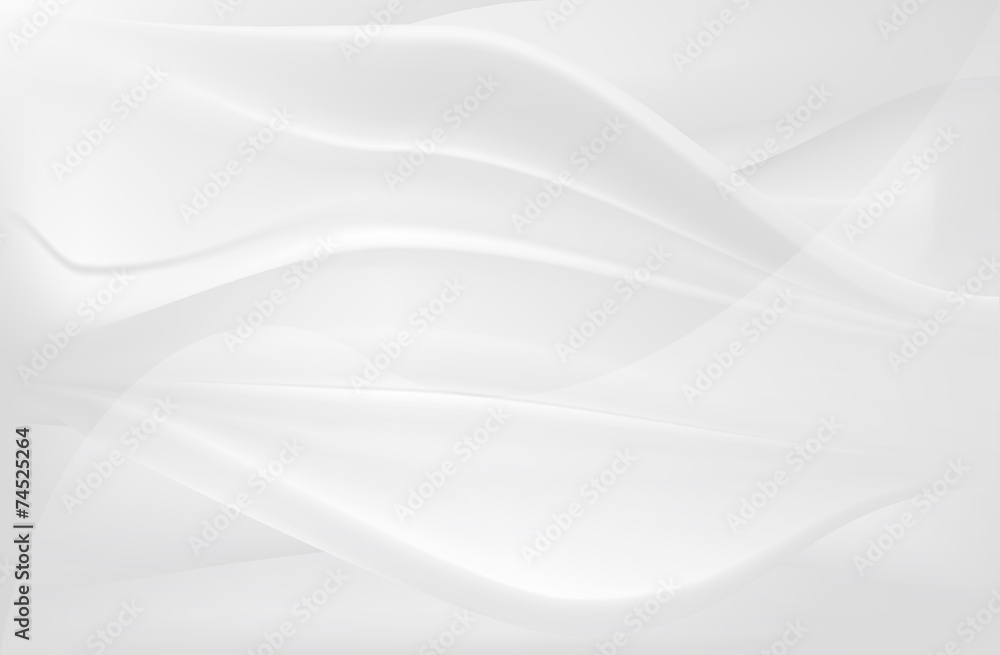 Fototapeta white smooth silk flow abstract background