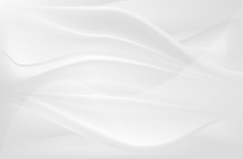 White Smooth Silk Flow Abstrac...