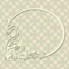 Beautiful White Floral Frame