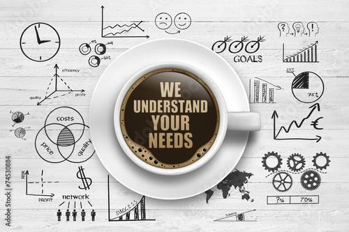 Obraz na plátně We understand your needs!