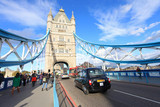 Fototapeta Londyn - londres puente torre transeuntes 3289-f14