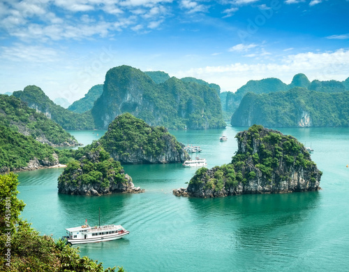 Halong Bay in Vietnam. Unesco World Heritage Site. Canvas Print