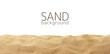 Leinwandbild Motiv The sand scattering isolated on white background