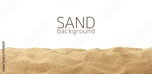 Photo  The sand scattering isolated on white background
