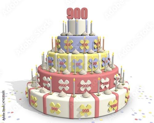 Photo Stands Bakery Taart met cijfer 900