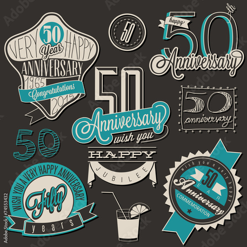 Fotografia  Vintage style 50 anniversary collection.