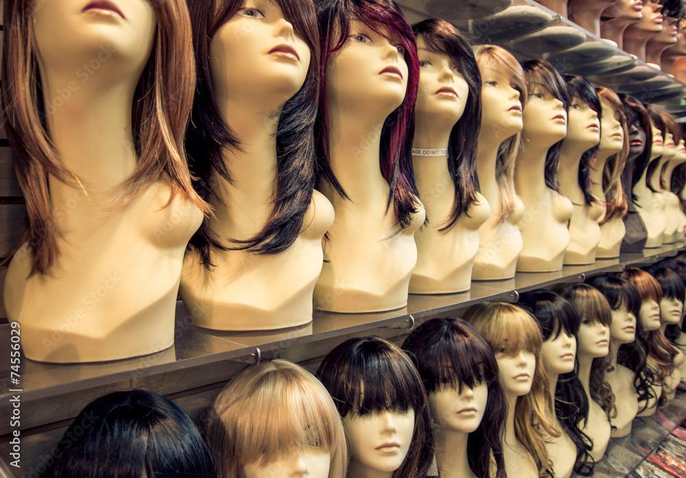 Fototapeta Wigs shop