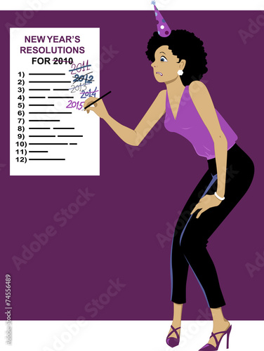 Sticking to your New Year's resolutions Wallpaper Mural