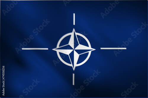 Photo NATO waving flag vector