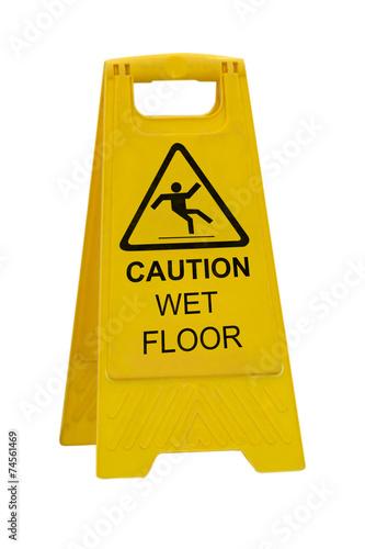 Fotografie, Obraz  Caution wet floor sign