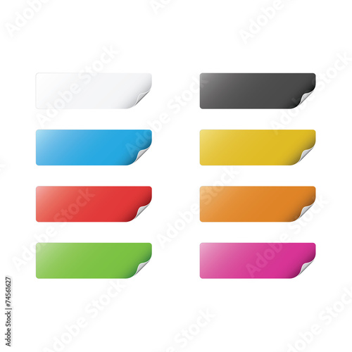 Colorful Stickers Canvas Print