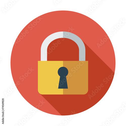 Photographie Lock single icon.