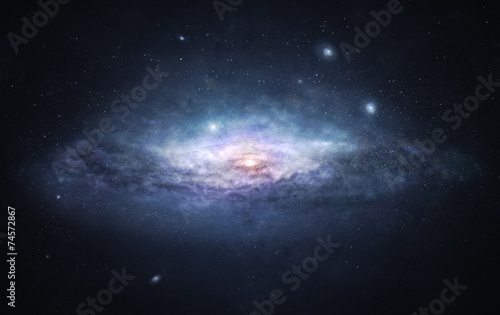 Garden Poster UFO Galaxy - the city of stars