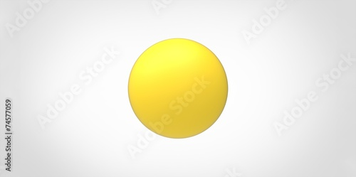 Fototapeta Yellow glossy ball sphere obraz na płótnie