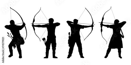 archer silhouettes Wallpaper Mural