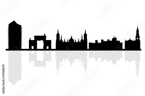 Zaragoza background in editable vector file