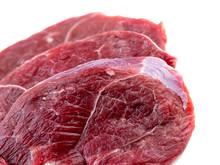 Macro Closeup Of Leg Lamb Meat...