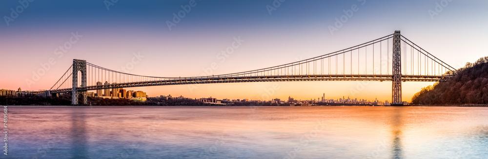 Fototapety, obrazy: George Washington Bridge panorama