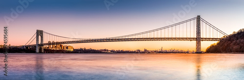 Foto op Aluminium Brug George Washington Bridge panorama