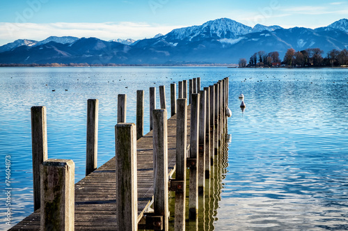 old wooden jetty Canvas Print