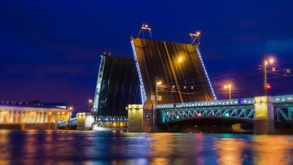 Fototapeta na wymiar Palace Bridge in St. Petersburg, Russia