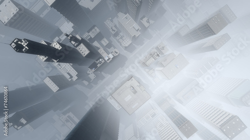 antena-drapacza-chmur-miasto-w-mgle