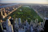 Fototapeta Nowy Jork - Central Park aerial view, Manhattan, New York; Park is surrounde