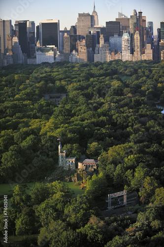 Keuken foto achterwand New York Central Park aerial view, Manhattan, New York; Park is surrounde