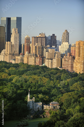 Fotografie, Obraz  Central Park letecký pohled, Manhattan, New York; Park je surrounde