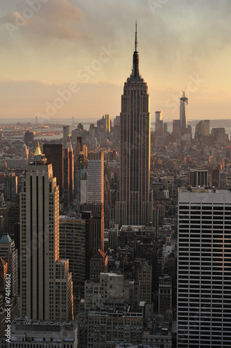 Photo  New York City skyline and Empire State Building, Manhattan, New